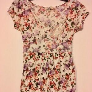 Lei floral & lace blouse